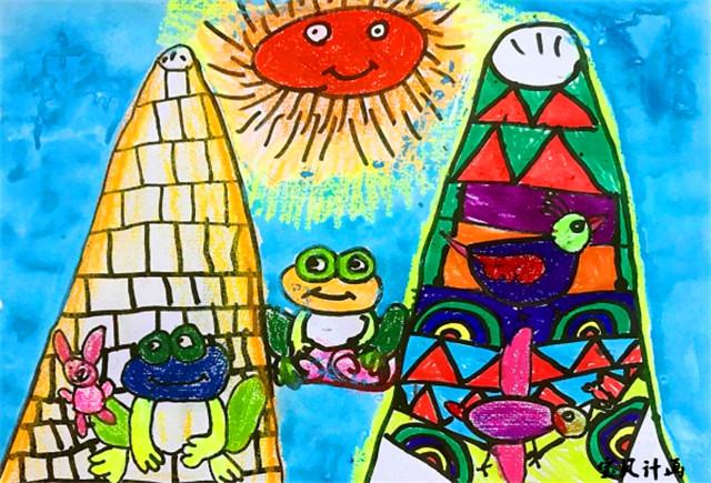 以上是宝贝计画儿童创意美术图片青蛙-绘画学员画作,希望帮助到各位图片