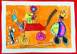 消防车-宝贝计画幼儿绘画美术作品