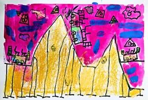 三角形极速车道-宝贝计画儿童美术作品