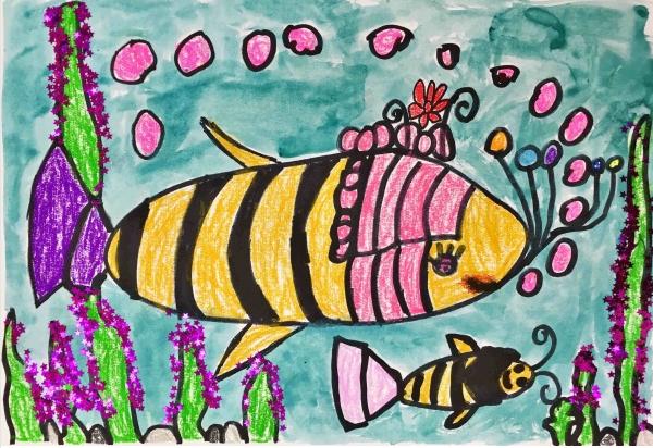 海底世界-幼儿园大班美术-宝贝计画